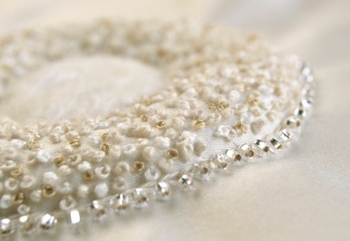 Embroidery with pearls